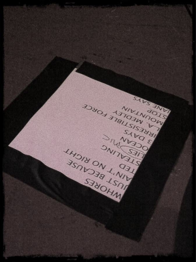 [Image: Image by @bperry - Set list from @janesaddiction concert last night in LA on Propic]