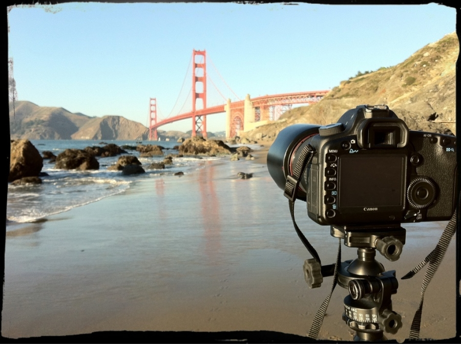 [Image: Image by @bperry - Waiting for sunset near the Golden Gate Bridge #sf on Propic]