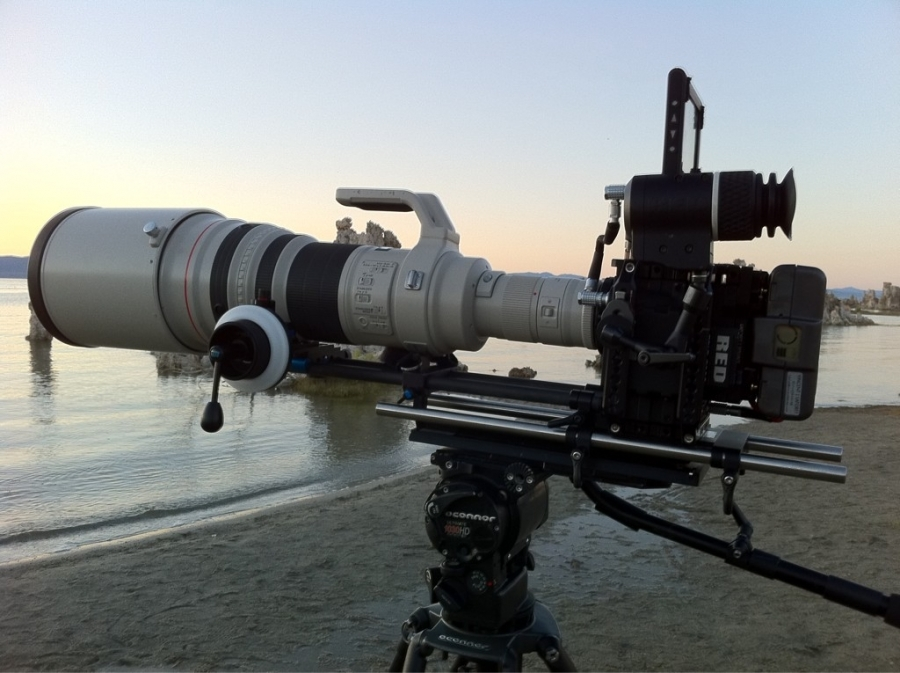 [Image: Image by @vincentlaforet - Canon 600mm EF at 300fps 2k on RED #epic w RED Canon mount #R3D = approx 3400mm  on Propic]