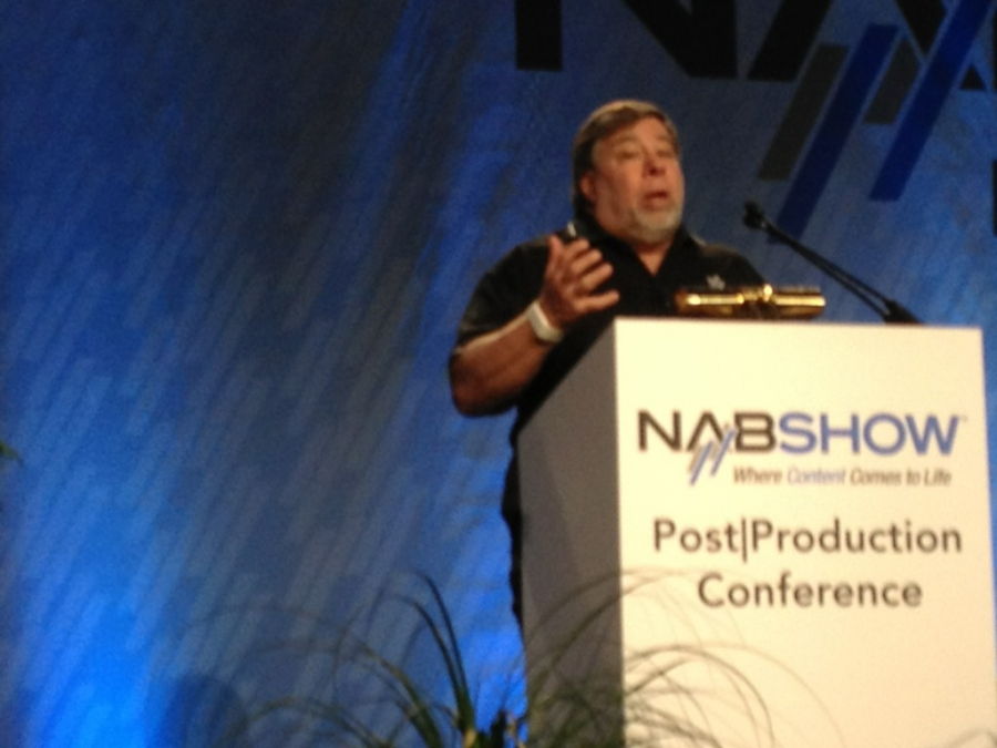 [Image: Image by @josh_diamond - Woz layin down a super creative spiel. #NAB on Propic]