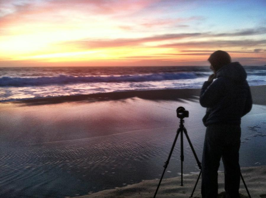 [Image: Image by @EricHinesPhotos - @shawnreeder shooting the sunset tonight in Big Sur. on Propic]