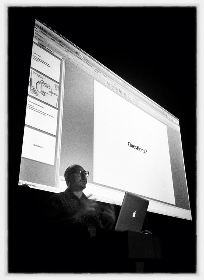 [Image: Image by @PhilipBloom - The talented @TimurCivan fielding lighting questions at #MiMliveNY on Propic]