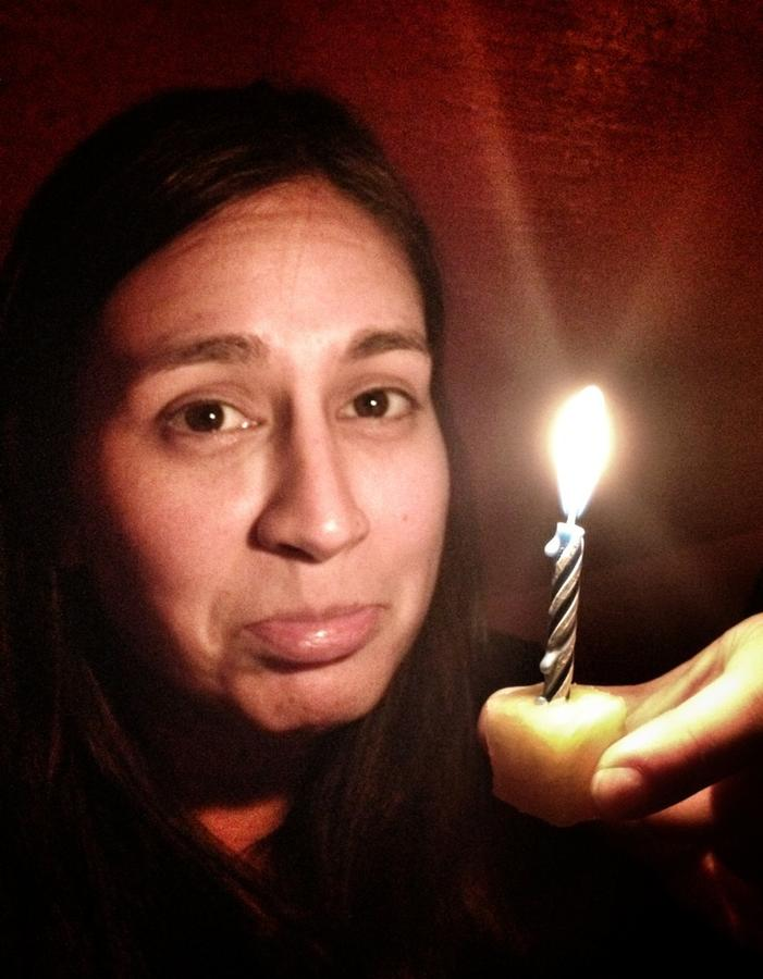 [Image: Image by @PhilipBloom - Poor old @cristinavaldivi ! She got the world's smallest birthday cake!! on Propic]