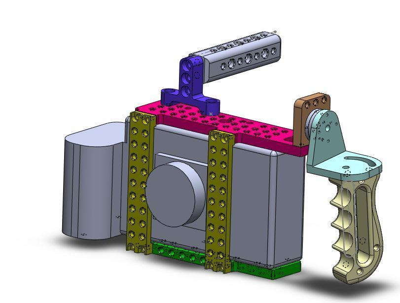 [Image: Assembly Pic 10 Complete Assembly by @MNS1974 - Solidworks TS3Cine Combat Cage on Propic]