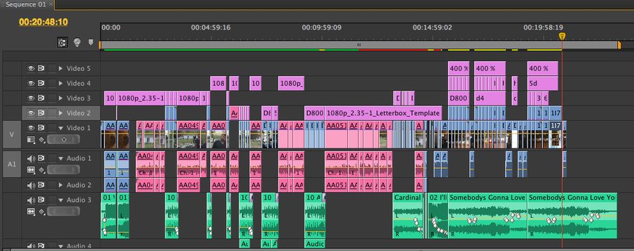 [Image: DSLR shootout timeline by @PhilipBloom - My timeline in CS6 for my D800 Vs D4 vs Mk3 Video...hopefully up tomorrow on Propic]