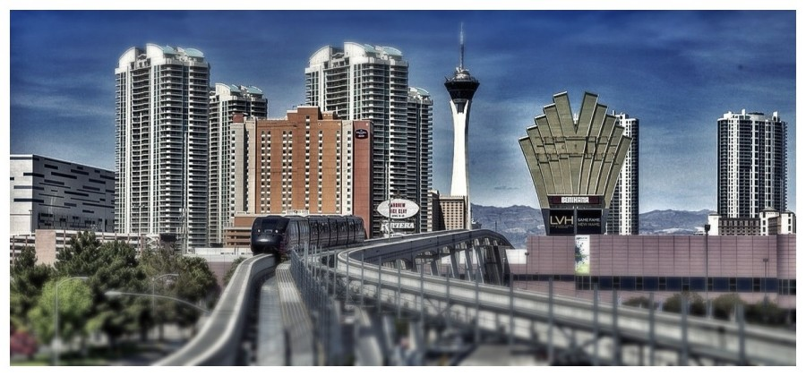 [Image: Photo1 by @MNS1974 - Forgot to post this last month. The tram against Vegas cityscape on Propic]