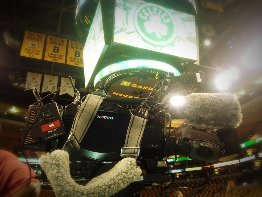 [Image: Image by @tomguilmette - Celtics NBA playoffs w/ Sony F800 on Propic]