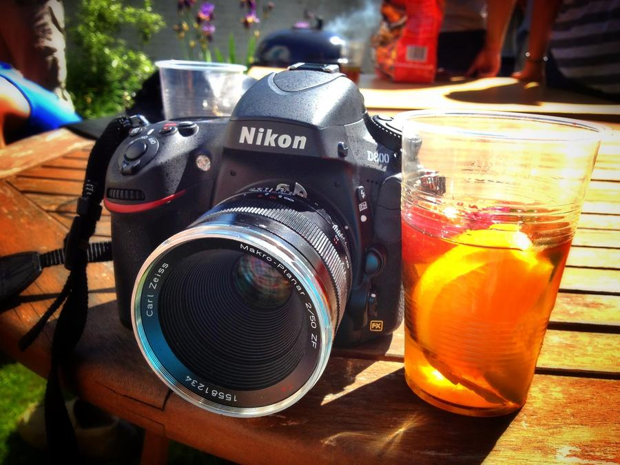 [Image: Image by @PhilipBloom - My brand spanking new Nikon D800 enjoying the wonderful English weather with a very fruity Pimms! on Propic]