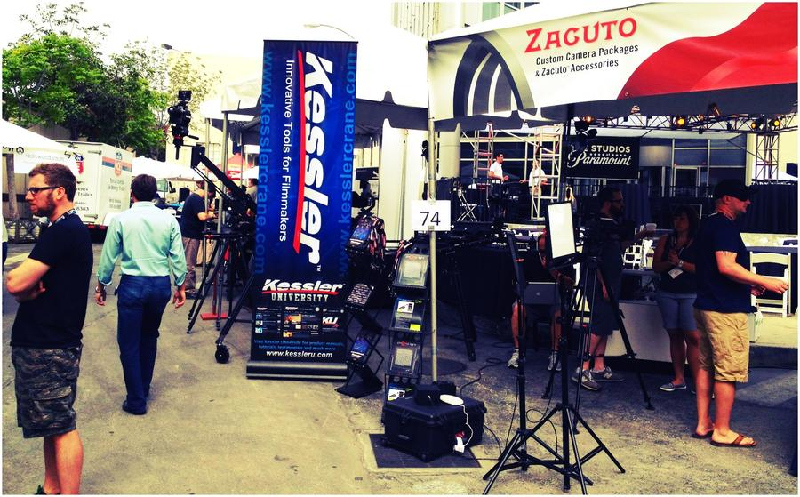[Image: Image by @ChrisBeller - Kicking off Day 2 of CineGear at the @Zacuto @KesslerCrane booth (#74). Come see us! on Propic]
