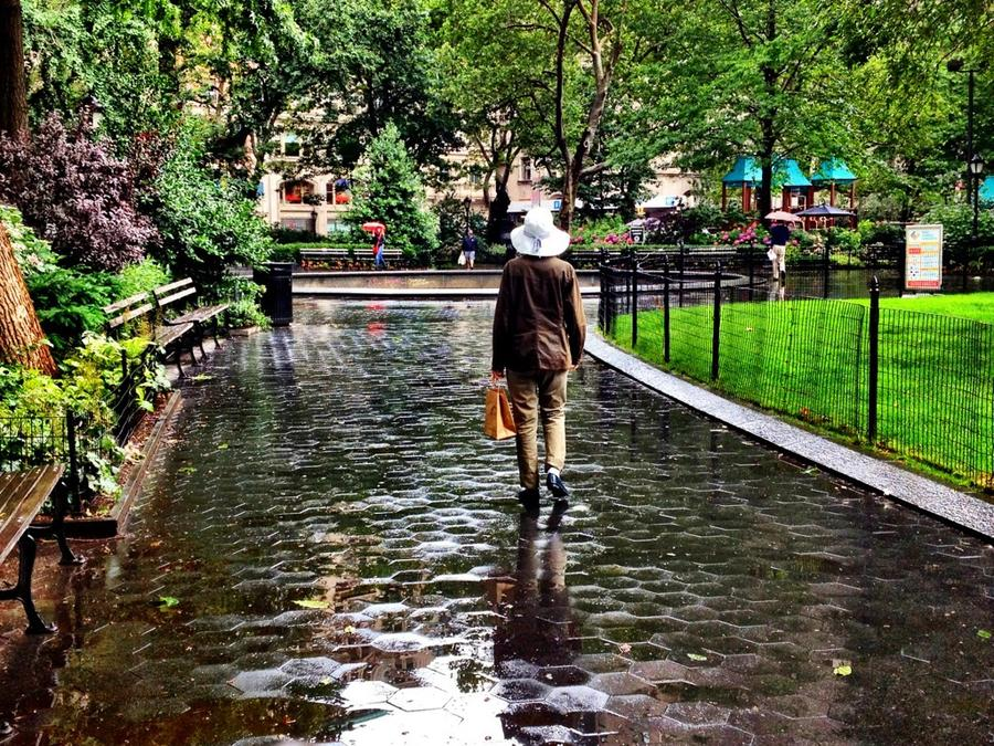 [Image: Nice Hat! by @LordOfVisions - Who needs an umbrella when you have a hat like this! Rainy day in Madison Square Park. on Propic]