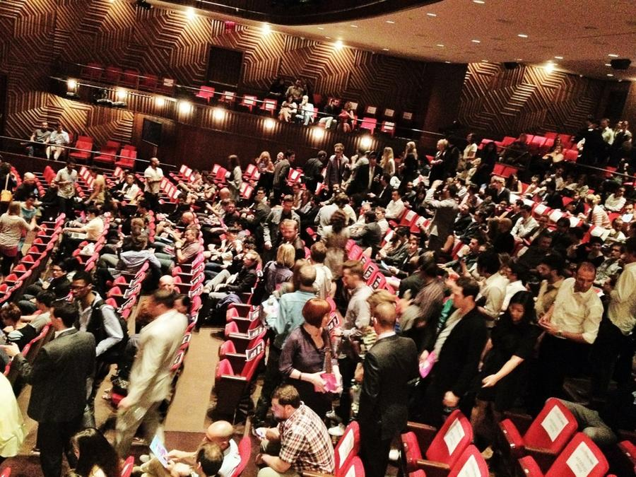 [Image: Image by @PhilipBloom - This is going to be epic! Theatre filling up for the @VimeoFestAwards @vimeo on Propic]