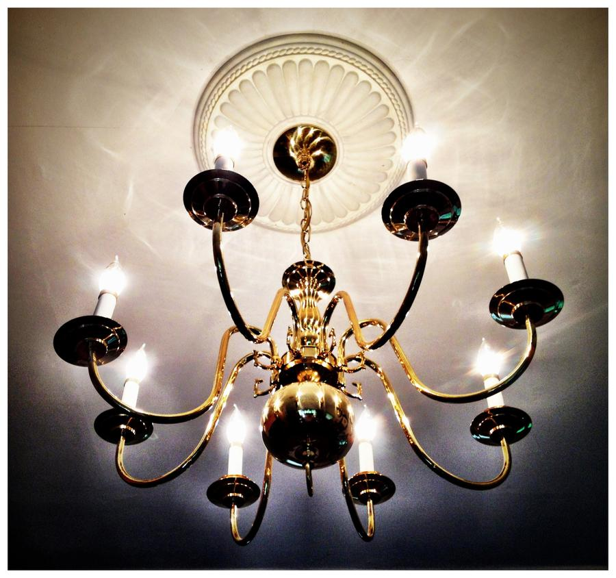 [Image: $10 Chandelier by @LordOfVisions - I am Mr. Fix It today. Just installed $10 chandelier found in a thrift shop. Not bad if I do say! on Propic]