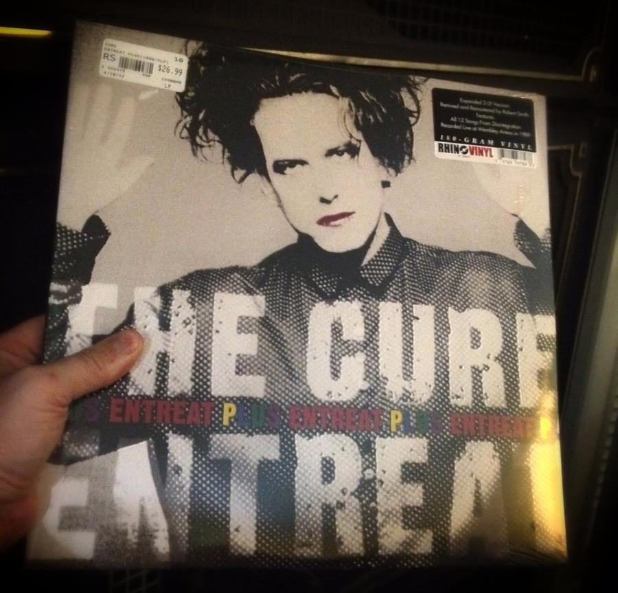 "[Image: Bought some Cure vinyl today by @MNS1974 - 12"" Cure Entreat Plus on Propic]"