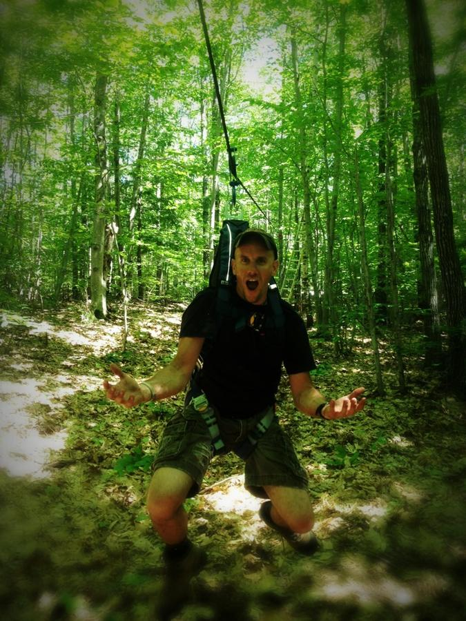 [Image: Image by @tomguilmette - Pulled off my first rope zip line MTB chase 120fps shot. 120 foot run. This pic was taken after I dropped the RED :-) on Propic]