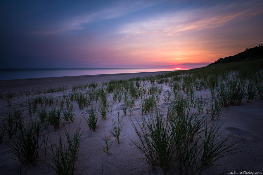 [Image:  L8C0015 2 by @EricHinesPhotos - 60-second exposure during sunrise at the Indiana Dunes on Propic]