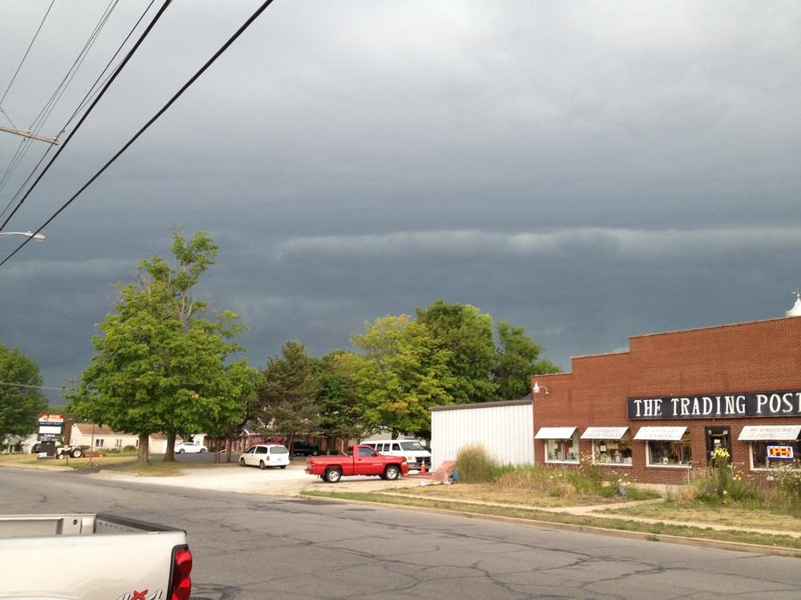 [Image: Image by @ChrisBeller - Wicked looking storm moving into Plymouth, IN @reedtimmerTVN on Propic]