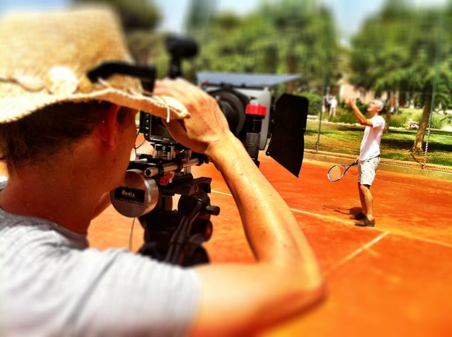 [Image: Image by @NinoLeitner - Shooting at the tennis courts with my team at the #filmmakingmasterclass in Majorca. on Propic]