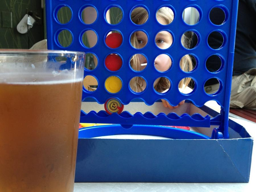 [Image: Image by @josh_diamond - Laundromat was closed so we switch to plan B: get drunk and play connect 4. on Propic]