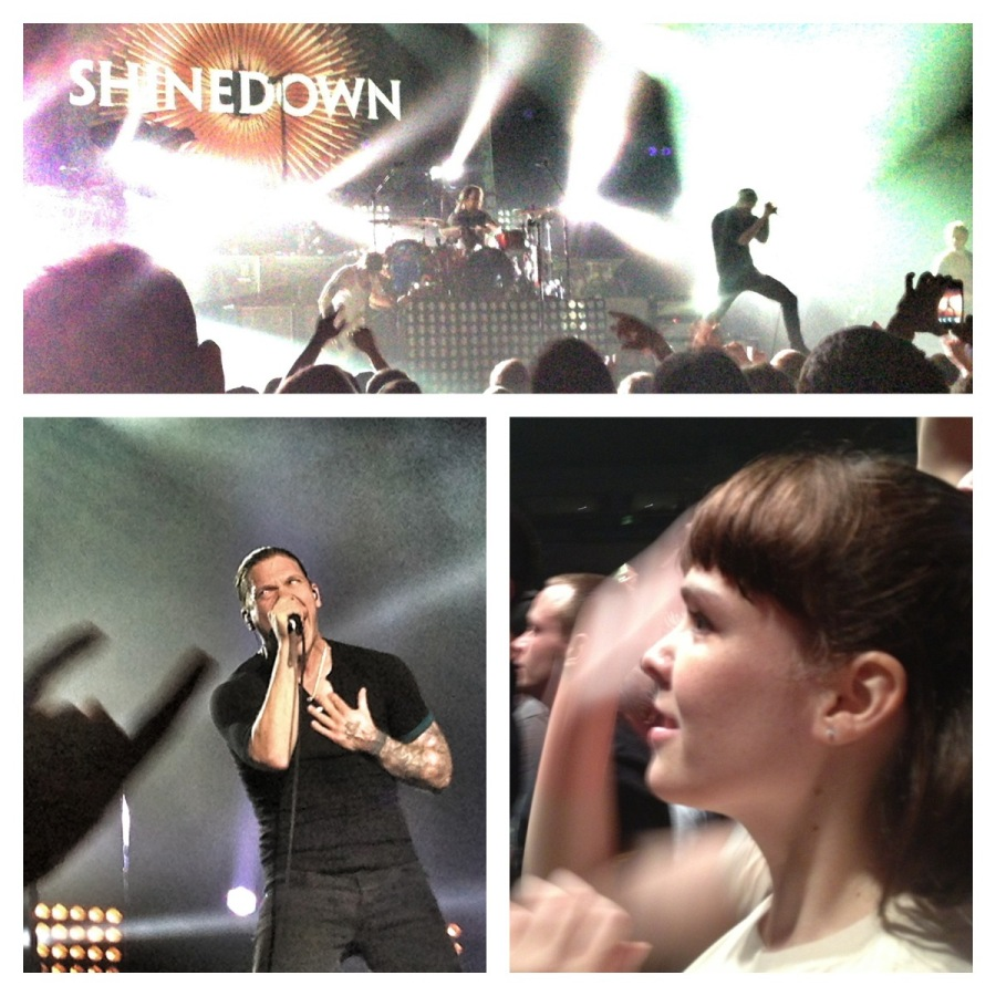 [Image: Photo by @MNS1974 - @miss_h_bomb enjoying the Shinedown / Papa Roach concert last night on Propic]