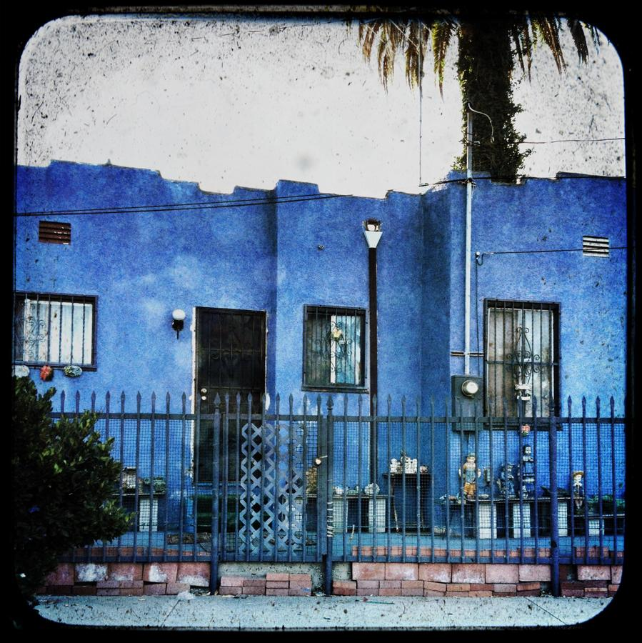 [Image: Blue House by @MissHBomb - LA's little blue house... errrr.... fortress of gnomes.  on Propic]
