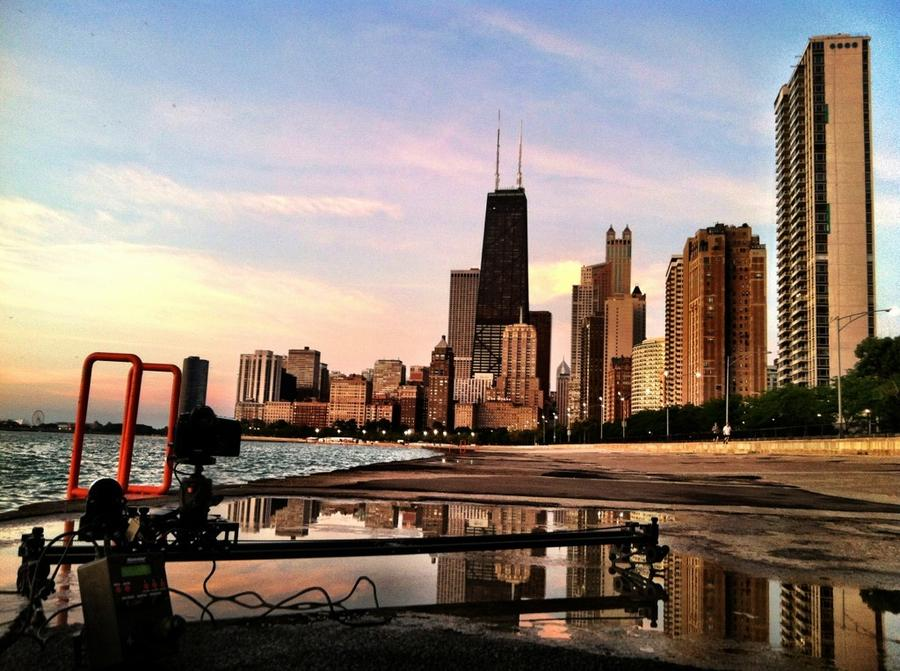 [Image: Image by @EricHinesPhotos - Shooting sunrise this morning in Chicago on the @KesslerCrane Shuttle Pod Mini. on Propic]