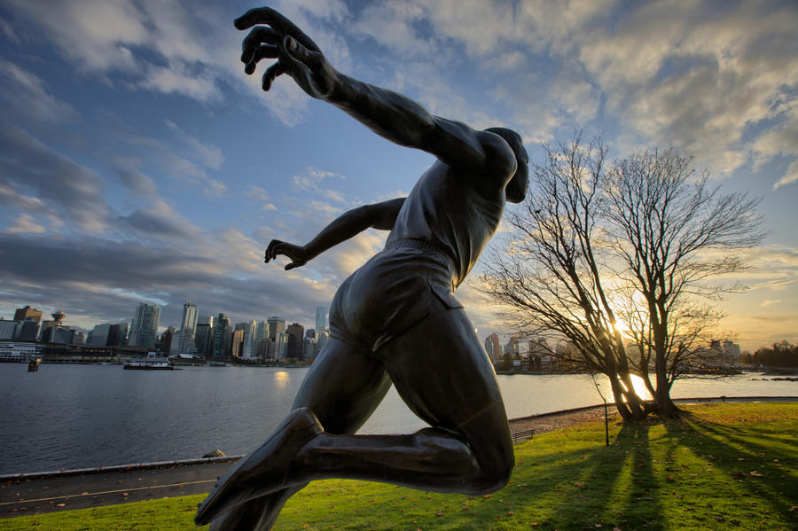 [Image: Running Man by @joelschat - Running Man in Vancouver, #HDR