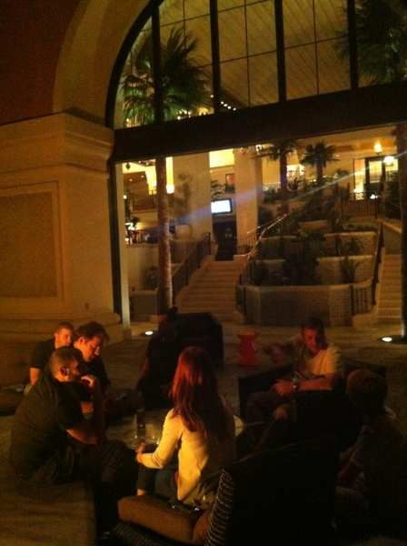 [Image: Image by @NinoLeitner - Great chilling w/ the attendees of the Las Vegas #FilmmakingMasterclass on our last evening. Flying to Miami tomorrow! on Propic]