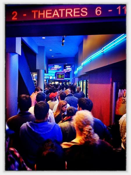 [Image: Image by @PhilipBloom - Huge line for the avengers down at battery park regal cinema! on Propic]