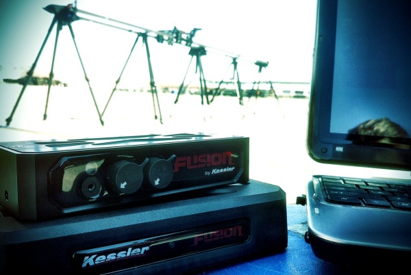 [Image: Photo by @drkanab - About to put the @KesslerCrane FUSION to work for @EDC_LasVegas stage builds tonight w/ @mindrelic &amp; @erichinesphotos on Propic]