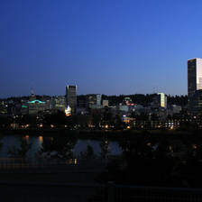 [Image: portland skyline night by finer]