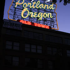 [Image: portland sign night 2 by finer]