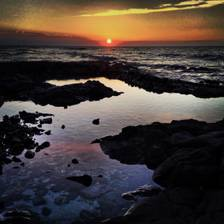 [Image: Sunset Tide pool by marvkgill]