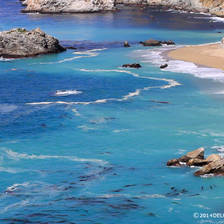 [Image: Big Sur beach, California by deloprojet]