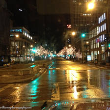 [Image: Michigan Avenue at Night]