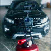 [Image: Philip Bloom Pocket Dolly on location for Range Rover shoot]